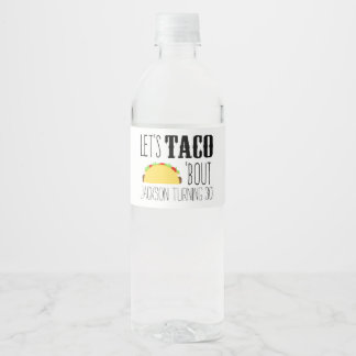 Taco 'Bout Birthday Party Water Bottle Label