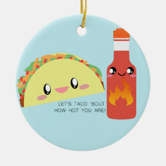 TACO 'bout HOT Customizable Ceramic Ornament