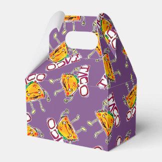 taco cartoon style funny illustration favor box