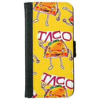taco cartoon style funny illustration iPhone 6 wallet case