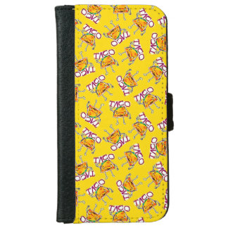 taco cartoon style funny illustration iPhone 6 wallet case