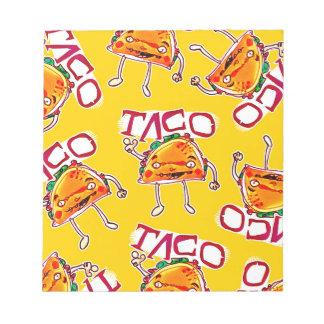 taco cartoon style funny illustration notepad