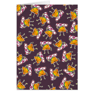 taco cartoon style funny illustration pattern card