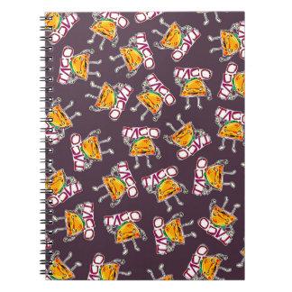 taco cartoon style funny illustration pattern notebooks