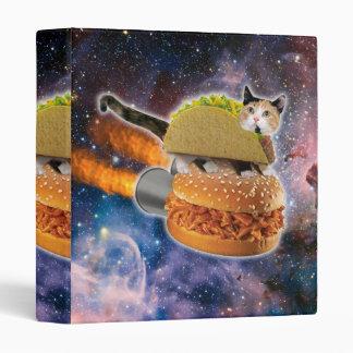 taco catand rockethamburger in the universe 3 ring binder