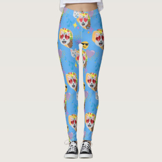 taco cat emoji leggings