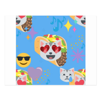taco cat emoji postcard