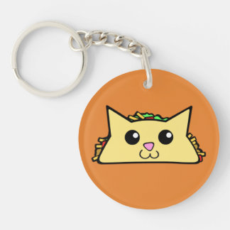 Taco Cat Keychain