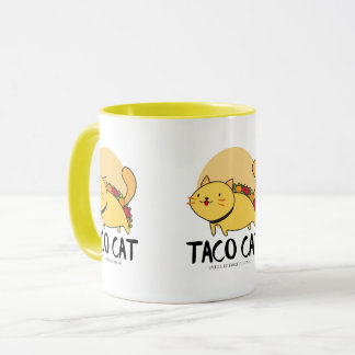 Taco Cat Spelled Backward Is Taco Cat Mug Yellow