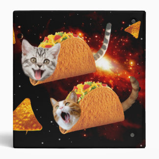 Taco Cats Space 3 Ring Binders