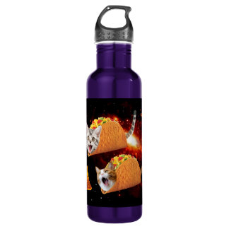 Taco Cats Space 710 Ml Water Bottle