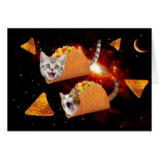 Taco Cats Space Card