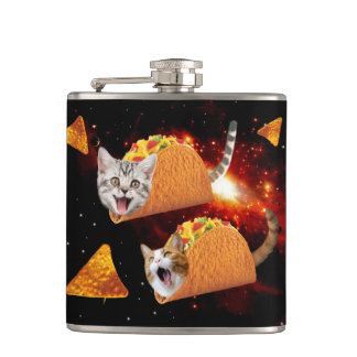 Taco Cats Space Hip Flask