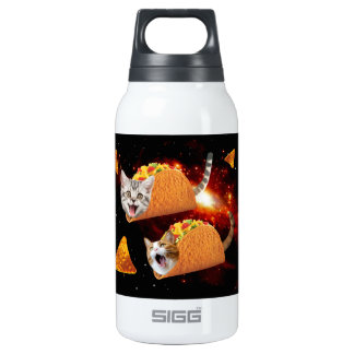Taco Cats Space Insulated Water Bottle