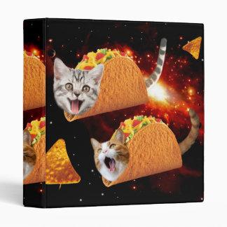 Taco Cats Space Vinyl Binders