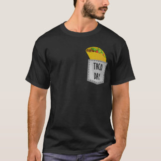Taco Day Mexican Food Pocket T-Shirt