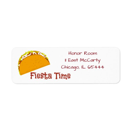 Taco Fiesta Time Labels