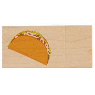 Taco Fiesta Time Wood USB Flash Drive