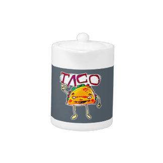 taco man cartoon style funny illustration
