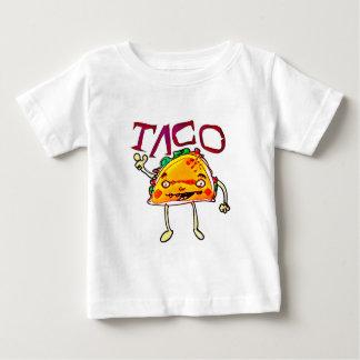 taco man cartoon style funny illustration baby T-Shirt