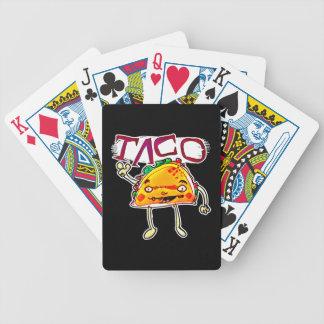 taco man cartoon style funny illustration poker deck