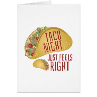 Taco Night Card