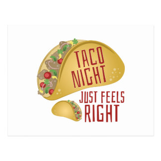 Taco Night Postcard