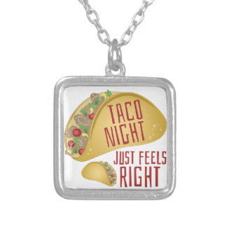 Taco Night Silver Plated Necklace