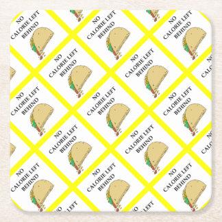 taco square paper coaster