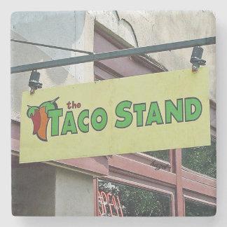 Taco Stand Athens Georgia Marble Stone Coaster. Stone Coaster