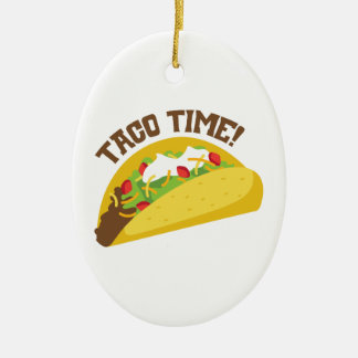 Taco Time Ceramic Oval Ornament
