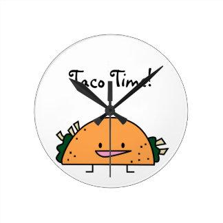 Taco Time Kitchen Wall Clock