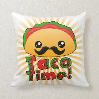 Taco Time Throw Pillow