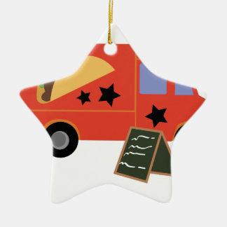 Taco Truck Ceramic Star Ornament