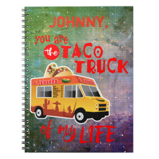 Taco Truck of my Life Tie-dye background Notebook
