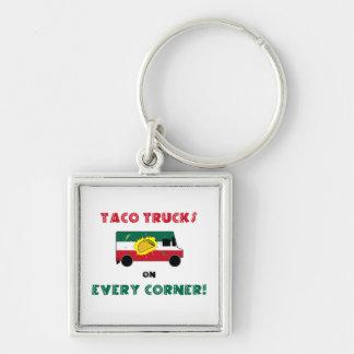 Taco Trucks On Every Corner Keychain
