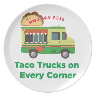 Taco Trucks on Every Corner Melamine Plate