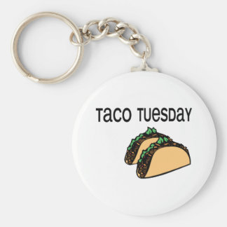 Taco Tuesday Basic Round Button Keychain