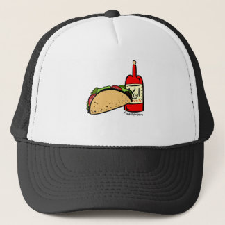 Taco Tuesday & Hot Sauce Design Pattern Trucker Hat