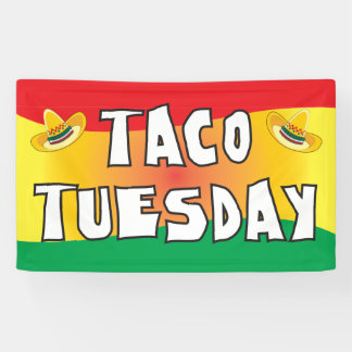 Taco Tuesday in bright colors Banner