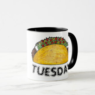TACO TUESDAY Mexican Tex Mex Food Tacos Foodie Mug