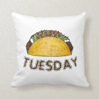 TACO TUESDAY Mexican Tex Mex Food Tacos Foodie Throw Pillow