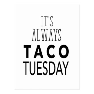 TACO TUESDAY POSTCARD