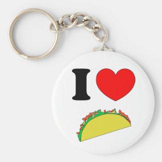 Taco Wear Basic Round Button Keychain