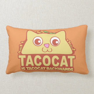 Tacocat Backwards II Lumbar Pillow