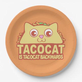 Tacocat Backwards II Paper Plate