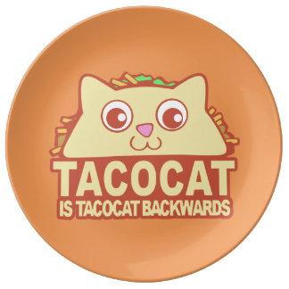 Tacocat Backwards II Plate