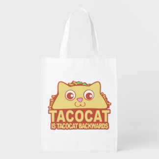 Tacocat Backwards II Reusable Grocery Bag