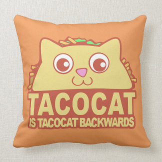 Tacocat Backwards II Throw Pillow
