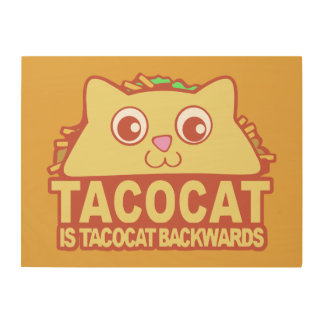 Tacocat Backwards II Wood Wall Decor